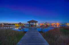 Ilha de Ocracoke no cenário da noite Foto de Stock