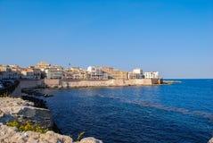 Ilha de Ortigia em Siracusa sicília fotografia de stock