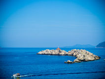 Ilha de Otocic Grebeni, Dubrovnik imagem de stock