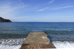 Ilha de Patmos, Grécia Imagens de Stock Royalty Free