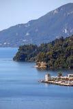 Ilha de pedra velha de Corfu do moinho de vento Imagem de Stock Royalty Free