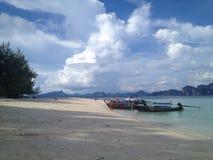 Ilha de Pode - barcos que esperam clientes Fotografia de Stock Royalty Free