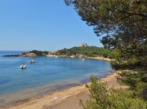 Ilha de Porquerolles, Hyeres, França Foto de Stock Royalty Free