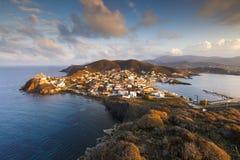 Ilha de Psara fotografia de stock