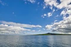Ilha de Rangitoto - um vulcão extinto fora da costa em Auckland Fotografia de Stock