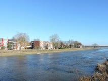Ilha de Rusne e rio de Pakalne, Lituânia Fotografia de Stock