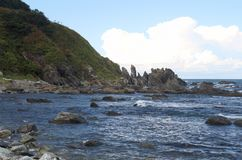 A ilha de Sakhalin seaside imagem de stock royalty free