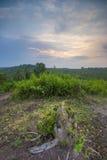 Ilha de Sangiang do nascer do sol, Banten indonésia Foto de Stock