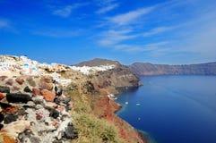 Ilha de Santorini, Grécia ilustração stock