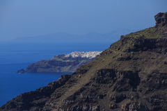 Ilha de Santorini, Grécia - opinião do caldera Fotos de Stock Royalty Free