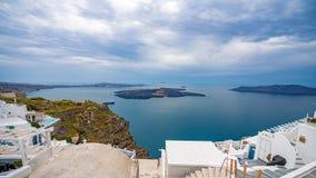 Ilha de Santorini, Gr?cia, um dos destinos os mais bonitos do curso do mundo foto de stock