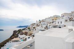 Ilha de Santorini, Gr?cia, um dos destinos os mais bonitos do curso do mundo fotos de stock royalty free