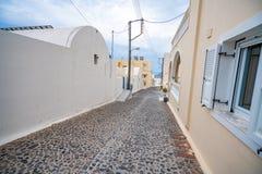 Ilha de Santorini, Gr?cia, um dos destinos os mais bonitos do curso do mundo fotografia de stock