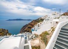 Ilha de Santorini, Gr?cia, um dos destinos os mais bonitos do curso do mundo fotografia de stock royalty free