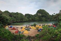 Ilha de Sempu Fotos de Stock Royalty Free