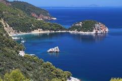 Ilha de Skopelos em Grécia foto de stock