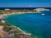 Ilha de Spinalonga na Creta, Grécia Imagem de Stock