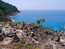 Ilha de Tachai do formulário da opinião do mar, Tailândia Fotografia de Stock