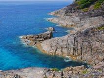 Ilha de Tachai do formulário da opinião do mar, Tailândia Fotos de Stock Royalty Free