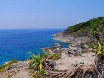Ilha de Tachai do formulário da opinião do mar, Tailândia Imagem de Stock Royalty Free