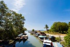 Ilha de Teluk Ewa Jetty Langkawi imagens de stock