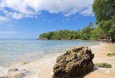 Ilha de Tobago - Mt Baía de Irvine e praia - praia tropical do mar das caraíbas Fotografia de Stock