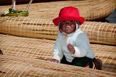Ilha de Uros, lago Titicaca fotos de stock royalty free