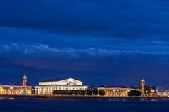 Ilha de Vasilevsky da seta Foto de Stock Royalty Free