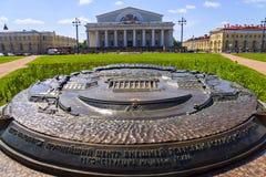 Ilha de Vasilevsky em St Petersburg fotografia de stock royalty free