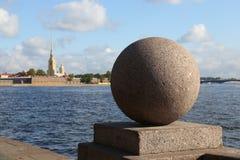 Ilha de Vasilevsky, St Petersburg, Rússia imagem de stock