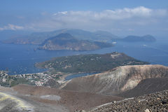 Ilha de Vulcano, Lipari, Itália Fotografia de Stock