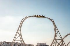 Ilha de Yas do mundo de Ferrari, Abu Dhabi - 2 de janeiro de 2018: Mundo Fas imagens de stock royalty free