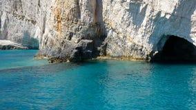 Ilha de Zakynthos, Gr?cia Feriados da cultura e do mar e da montanha Keri Caves vídeos de arquivo