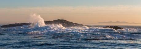 Ilha deixando de funcionar do selo da massa das ondas Fotos de Stock Royalty Free