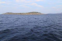 Ilha desinibido do arquipélago de Kornati, Croácia Fotos de Stock