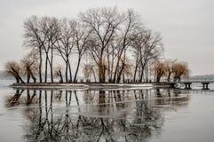 Ilha do amor no lago fotografia de stock royalty free