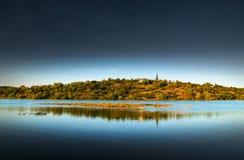 Ilha do banco de rio Foto de Stock Royalty Free