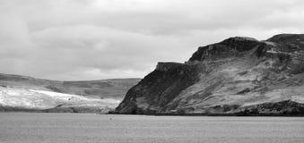Ilha da impressão do inverno de Skye imagem de stock