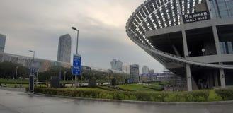 Ilha do centro de exposição de China guangzhou foto de stock