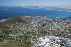Ilha do centro, de Robben e opinião do monte do sinal de  Fotos de Stock
