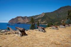 Ilha do crusoe de Robinson fotos de stock