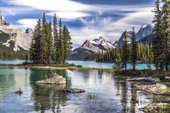Ilha do espírito e as montanhas Fotografia de Stock