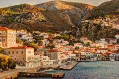 Ilha do Hydra em um dia de verão em Grécia fotos de stock