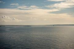 A ilha do ibiza vista do mar fotografia de stock