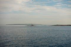 A ilha do ibiza vista do mar imagens de stock royalty free