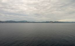 A ilha do ibiza vista do mar imagem de stock royalty free