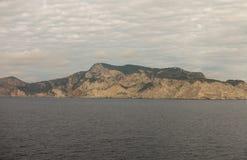 A ilha do ibiza vista do mar fotos de stock
