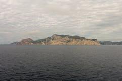 A ilha do ibiza vista do mar imagens de stock