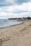 Ilha do leste norte da praia de Seaview do Wight que negligencia o Solent próximo a Ryde Fotografia de Stock Royalty Free
