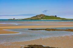 Ilha do olho da Irlanda na costa leste da Irlanda foto de stock
